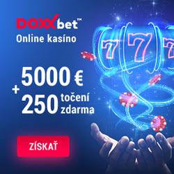 DOXXbet online kasíno 5000 + 250