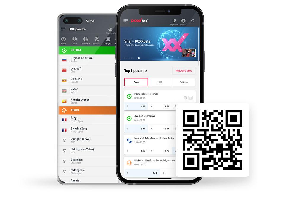 DOXXbet športové tipovanie a online kasíno hry - Mobilá aplikácia
